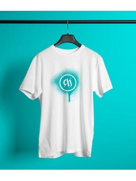 Męski T-shirt LOGO - biały