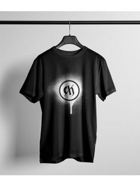 Męski T-shirt LOGO - czarny
