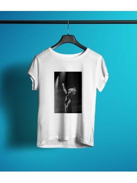 Damski T-shirt - A.Ch. koncertowa biała