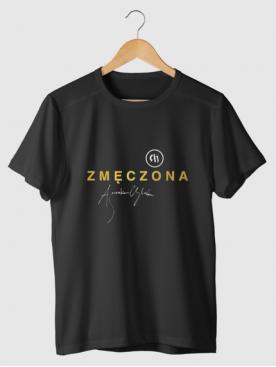 """T-shirt """"Zmęczona"""" - Złota..."""
