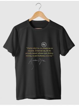 """Męski T-shirt """"Warto robić to..."""" - Złota Kolekcja 25lat"""