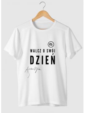 """Męski T-shirt """"Walcz o swój dzień"""" - Złota Kolekcja 25lat"""