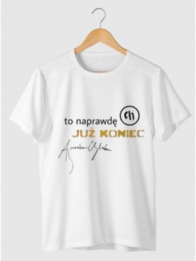 """Męski T-shirt """"To naprawdę już koniec"""" - Złota Kolekcja 25lat"""