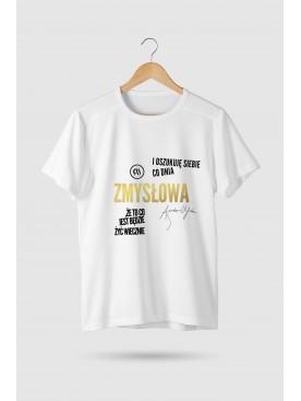 """T-shirt """"Zmysłowa"""" - Złota..."""